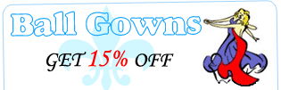 Ball Gowns 15 % Off